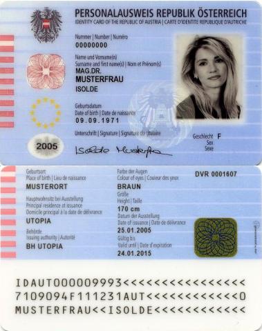 Austria Identity Cards Net